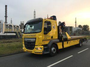 DAF LF 280 euro 6 Laadvermogen: 5 ton Kraan: 15 ton/meter Lepel: 5 ton